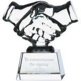 Image of 11.5cm Optical Crystal Handshake Award